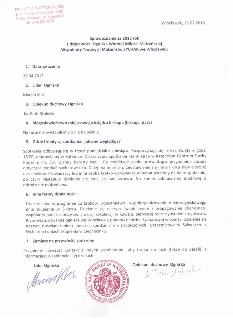Sprawozdanie Włocławek 2015